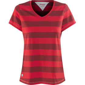 Bergans Bastøy T-Shirt Damen red/burgundy striped/strawberry